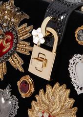 ... tote Dolce   Gabbana Dolce Box watersnake-trimmed embellished velvet ... 8d7cc3293428d