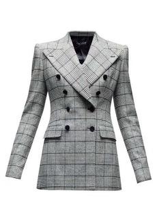 Dolce & Gabbana Double-breasted glen-checked twill blazer