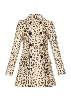 Dolce & Gabbana Double-breasted leopard-print faux-fur coat