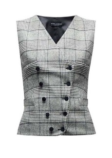 Dolce & Gabbana Double-breasted Prince of Wales-checked waistcoat