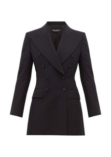 Dolce & Gabbana Double-breasted tailored wool-blend blazer