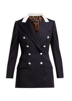 Dolce & Gabbana Double-breasted wool-twill blazer