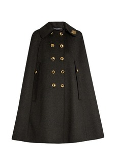Dolce & Gabbana Embellished-collar wool cape