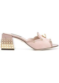 Dolce & Gabbana embellished mules - Pink & Purple