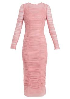 Dolce & Gabbana Embellished ruched dress
