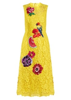Dolce & Gabbana Embroidered cordonetto-lace dress