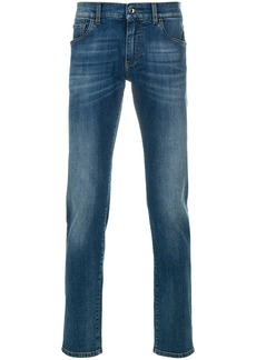 Dolce & Gabbana faded straight leg jeans - Blue