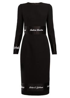Dolce & Gabbana Fashion Devotion-embroidered wool dress