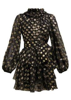 Dolce & Gabbana Fil-coupé balloon-sleeve mini dress