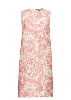Dolce & Gabbana Floral-brocade mini shift dress