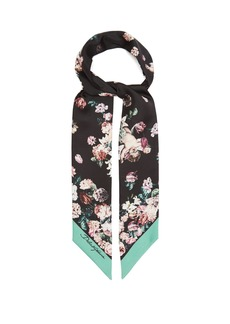 Dolce & Gabbana Floral cherub-print silk scarf