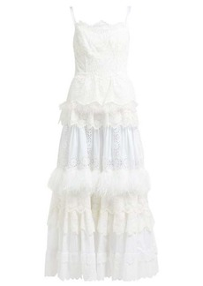 Dolce & Gabbana Floral cotton-blend broderie anglaise gown