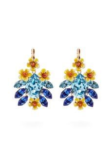 Dolce & Gabbana Floral crystal earrings