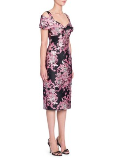 Dolce & Gabbana Floral Jacquard Off-Shoulder Dress