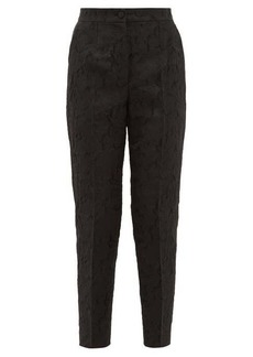 Dolce & Gabbana Floral-jacquard straight-leg trousers