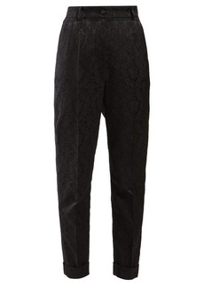 Dolce & Gabbana Floral-jacquard trousers