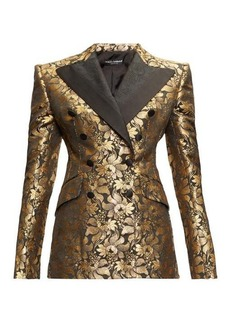 Dolce & Gabbana Double-breasted floral-brocade jacket