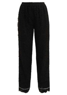 Dolce & Gabbana Floral mid-rise lace pyjama trousers