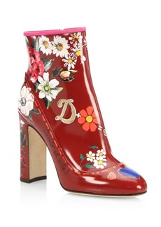 Dolce & Gabbana Floral Painted Booties