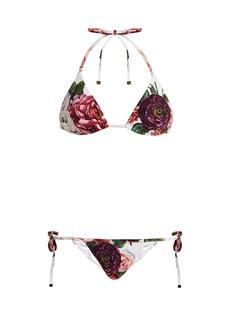 Dolce & Gabbana Floral-print adjustable bikini