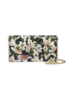 Dolce & Gabbana Floral-Print Crossbody Wallet on Chain