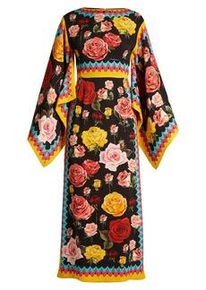 Dolce & Gabbana Floral-print draped dress