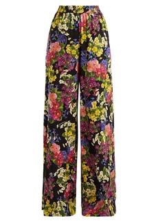 Dolce & Gabbana Floral-print silk-blend charmeuse trousers