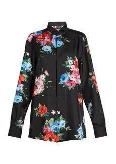 Dolce & Gabbana Floral-print silk-blend shirt
