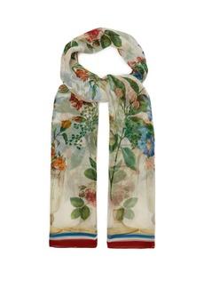 Dolce & Gabbana Floral-print silk-chiffon scarf