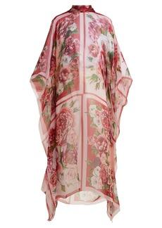 Dolce & Gabbana Floral-print silk kaftan