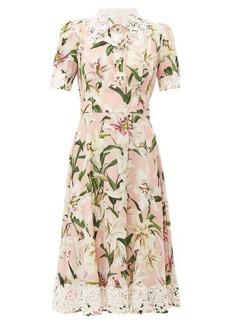 Dolce & Gabbana Floral-print silk midi dress