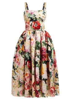 Dolce & Gabbana Floral-print silk-organza dress