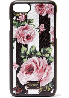 Dolce & Gabbana Floral-print textured-leather iPhone 7 case