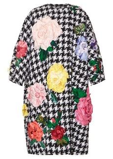 Dolce & Gabbana Flower-appliqué tweed coat