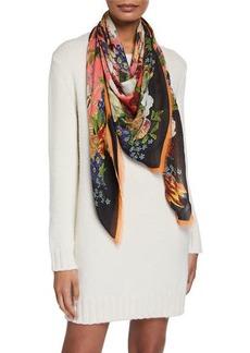 Dolce & Gabbana Flower Bloom Modal-Cashmere Scarf