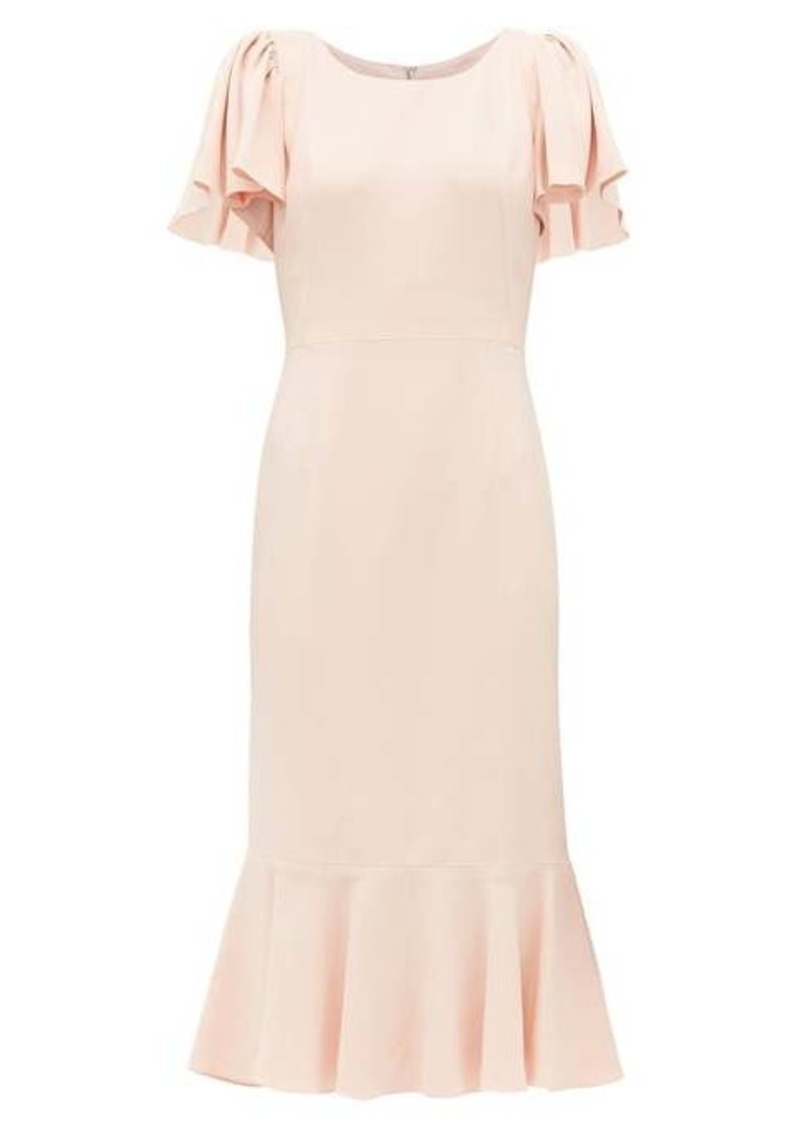 Dolce & Gabbana Fluted-hem cady-crepe midi dress
