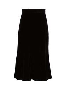 Dolce & Gabbana Fluted velvet midi skirt