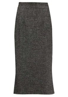 Dolce & Gabbana Fluted wool-blend tweed skirt