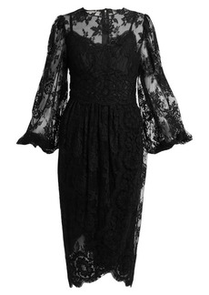 Dolce & Gabbana Galloon cotton-blend lace dress