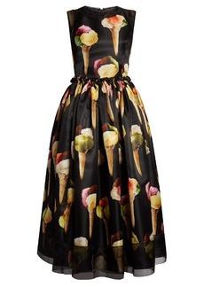 Dolce & Gabbana Gelato-print silk-organza midi dress