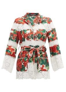 Dolce & Gabbana Geranium-print cotton-blend pyjama jacket