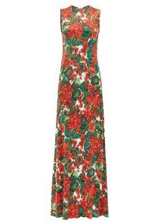 Dolce & Gabbana Geranium-print jersey maxi dress