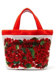 Dolce & Gabbana Geranium-print towelling tote