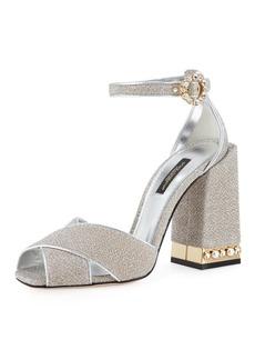 Dolce & Gabbana Glitter d'Orsay 105mm Sandal