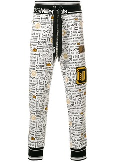 Dolce & Gabbana graffiti print track pants - White
