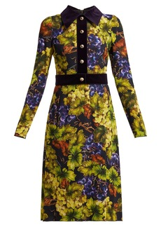 Dolce & Gabbana Grape-print cady dress