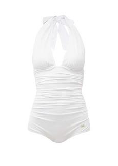 Dolce & Gabbana Halterneck ruched swimsuit