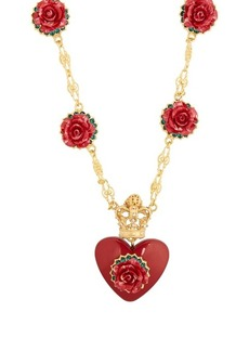 Dolce & Gabbana Heart and rose-pendant necklace