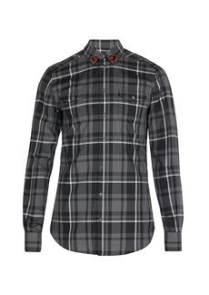 Dolce & Gabbana Heart-collar plaid cotton shirt
