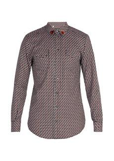 Dolce & Gabbana Heart-patch cotton shirt